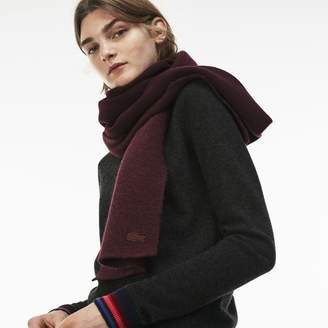 Lacoste Women's Jacquard Wool And Alpaca Scarf