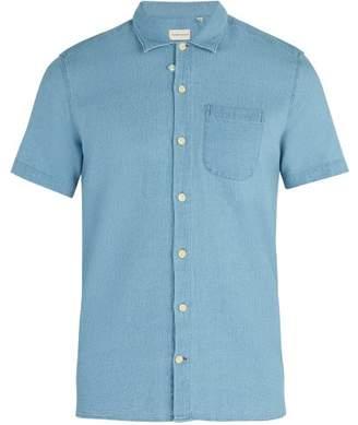 Oliver Spencer - Hawaiian Short Sleeved Cotton Shirt - Mens - Light Blue