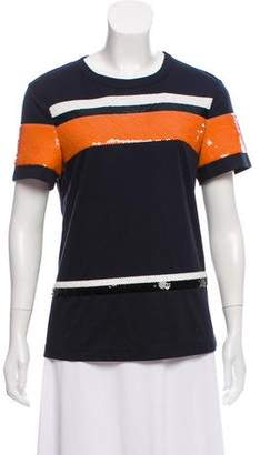 Cédric Charlier Sequin Embellished Short Sleeve Top