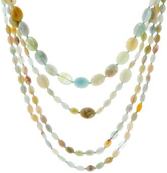 Set of 3 Multi Color Beryl Bead Layering Necklaces