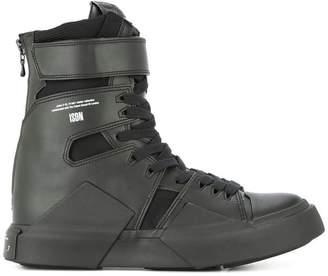 Julius strapped hi-top sneakers