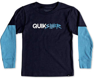 Quiksilver Toddler Boys Layered-Look Long-Sleeve Cotton T-Shirt