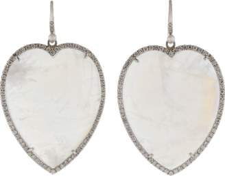 Irene Neuwirth JEWELRY Rainbow Moonstone Heart Earrings