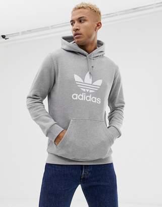 adidas Trefoil hoody in gray