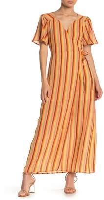 Emory Park Multi Stripe Wrap Maxi Dress