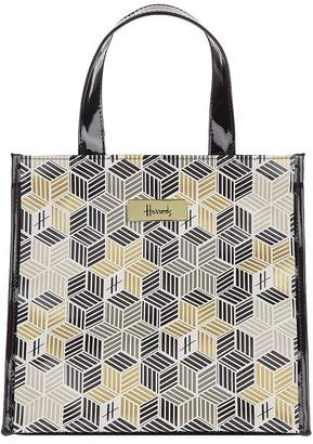 Harrods Small Metallic Cube Shopper Bag
