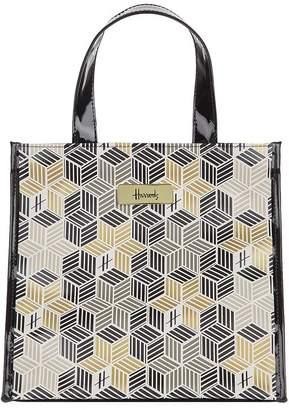 Harrods Small Metallic Cube Shopper Bag