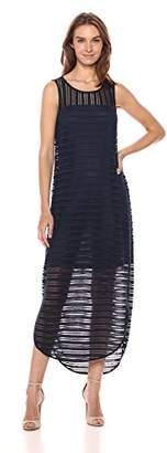 Armani Exchange A X Women's Long Sheer Stripe Dress
