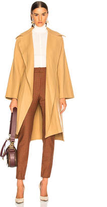 Chloé Belted Double Face Wool Coat