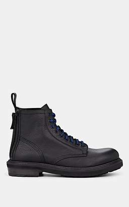 Buttero Men's Leather Hiking Boots - Black