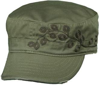 Dorfman Pacific Women's Cotton Vine Embroidery Military Cadet Hat