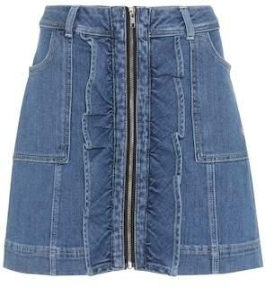 Ganni Compton denim skirt