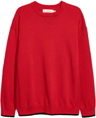 H&M Knit Cotton Sweater - Red