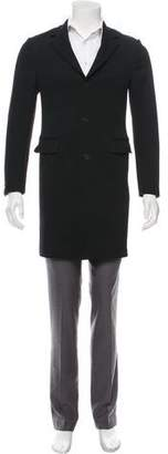 Prada Wool Notch-Lapel Overcoat