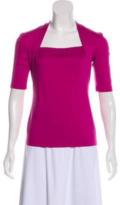 Lafayette 148 Square Neck Three-Quarter Sleeve Top