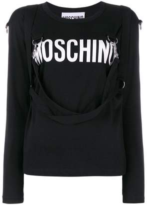 Moschino logo patch sweater