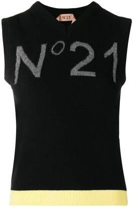 No.21 logo sweater vest