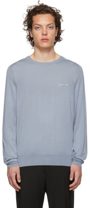 Givenchy Blue Silk Signature Sweater
