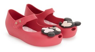 Toddler Girl's Mini Melissa 'Ultragirl - Disney Twins' Slip-On $64.95 thestylecure.com