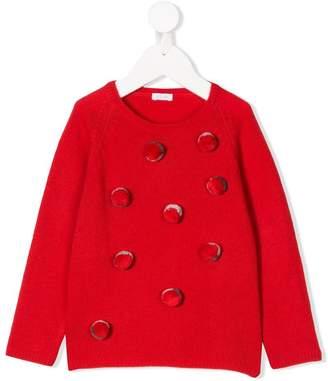 Il Gufo pom-pom knitted sweater