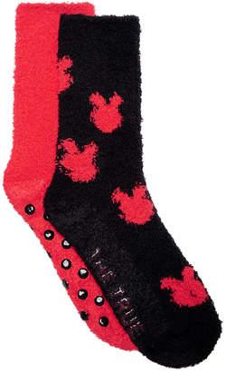 Planet Sox 2-Pk. Mickey Mouse Fuzzy Plush Socks