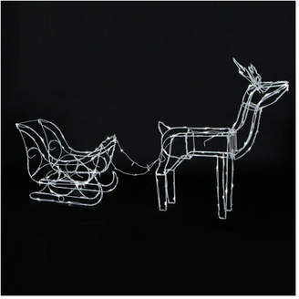 Reindeer with Sleigh LED Solar Light