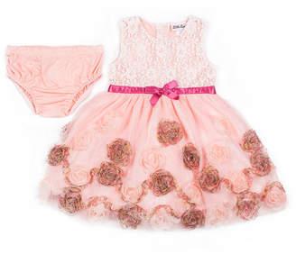 Little Lass Sleeveless Pattern A-Line Dress - Baby Girls