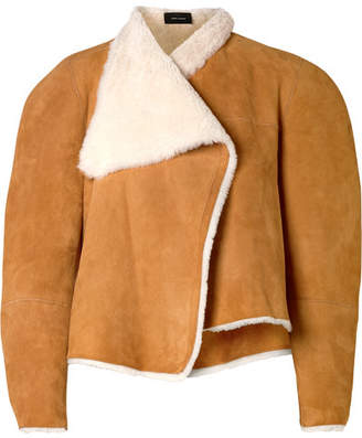Isabel Marant Acacia Reversible Shearling And Suede Jacket - Camel