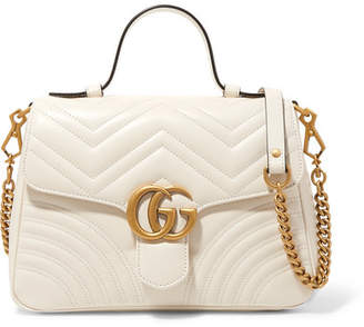 a978962f878 Gucci Gg Marmont Small Quilted Leather Shoulder Bag - White