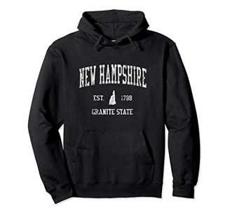 New Hampshire Hoodie Vintage Sports Design Hooded Sweatshirt