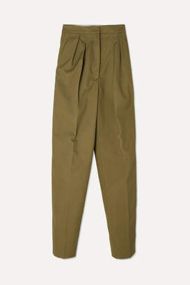 Golden Goose Felicia Twill Straight-leg Pants - Army green
