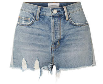 Current/Elliott The Ultra High Waist Distressed Denim Shorts - Mid denim