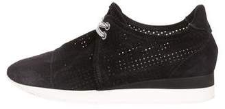 Max Mara Perforated Low-Top Sneakers