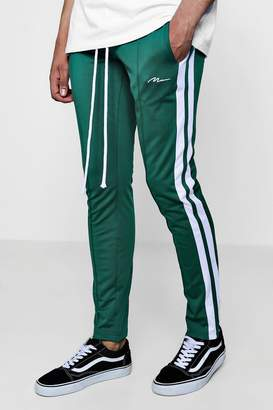 boohoo Skinny Fit MAN Signature Joggers With Side Stripe