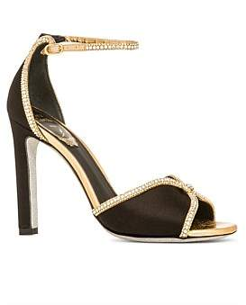 Rene Caovilla Evening Sandal With Crystals