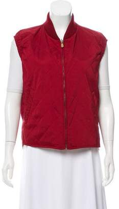 Loro Piana Quilted Zip-Up Vest