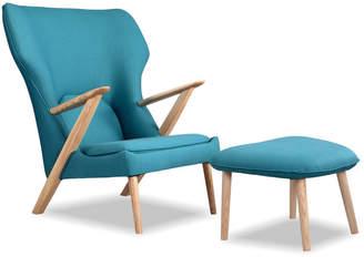 808 Home Kardiel 2Pc Cub Modern Lounge Chair & Ottoman Set