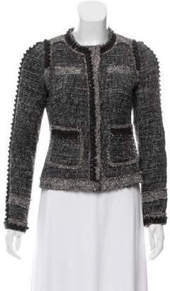 Rebecca Taylor Bouclé Wool-Trimmed Jacket