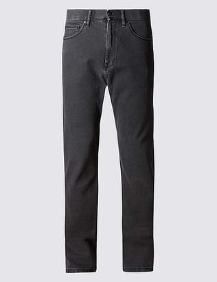 Marks and Spencer Regular Fit Stretch Jeans with StormwearTM