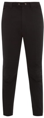 Ann Demeulemeester Mid Rise Tapered Twill Trousers - Mens - Black