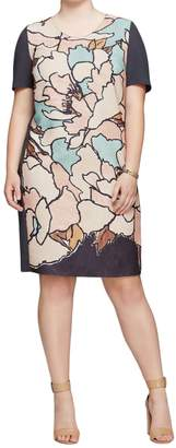 Marina Rinaldi Women's Diva Printed Shift Dress Multicolor