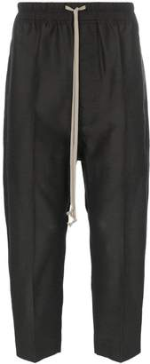 Rick Owens envelope pocket drawstring cropped trousers