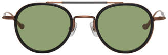 Matsuda Black and Copper M3064 Sunglasses