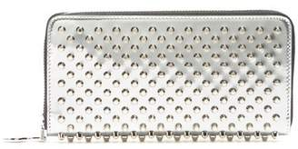 Christian Louboutin - Panettone Speccio Embellished Leather Wallet - Womens - Silver