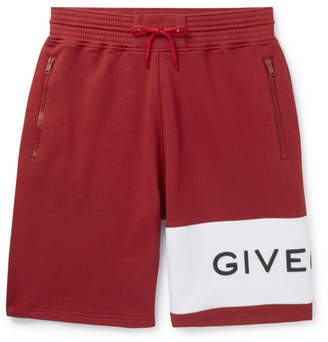 Givenchy Logo-Embroidered Loopback Cotton-Jersey Drawstring Shorts - Men - Red
