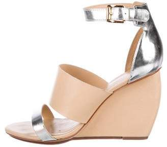 Rebecca Minkoff Leather Wedge Sandals