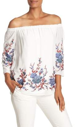 Catherine Malandrino Off-the-Shoulder Floral Blouse