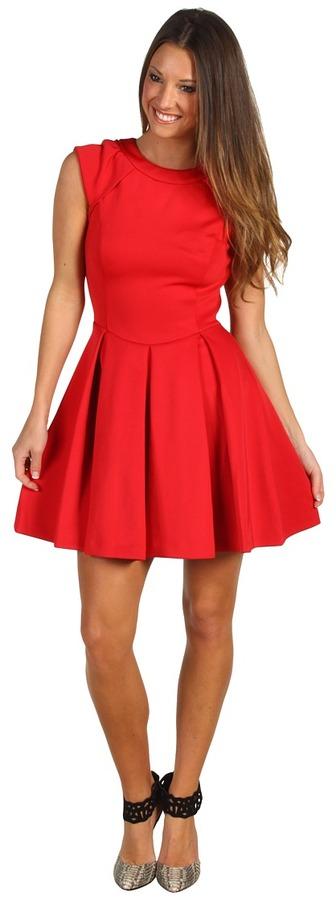Ted Baker Kipp Full Skirt Dress (Brick Red) - Apparel