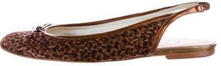 Delman Leopard Slingback Flats $65 thestylecure.com