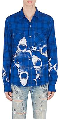 Amiri Men's Shark-Print Flannel Shirt